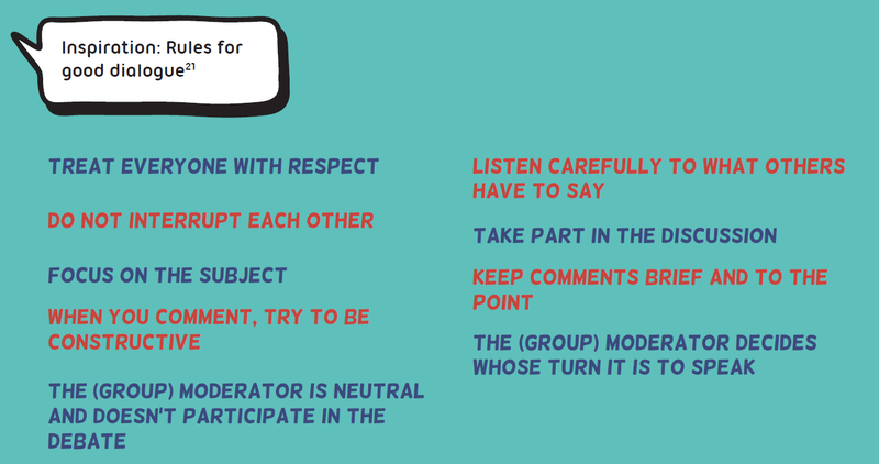 Rules for good dialogue